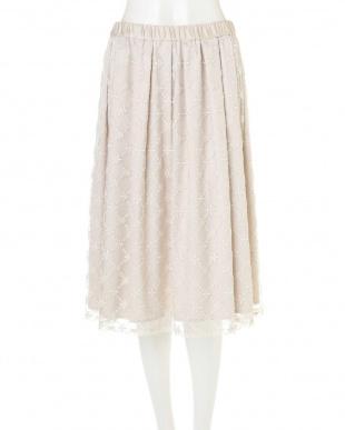 ベージュ ◆大きいサイズ◆刺繍レーススカート Aylesbury L見る