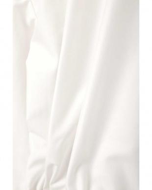 オフホワイト1 ◆大きいサイズ◆タイプライターペプラムブラウスジャケット Aylesbury L見る
