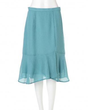 グリーン ◆大きいサイズ◆サテンサッカーマーメイドラップスカート Aylesbury L見る