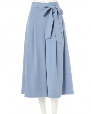 ブルー ◆大きいサイズ◆ランダムタックワイドパンツ Aylesbury L見る