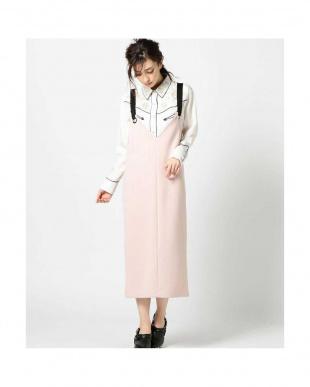 PINK LT リングストラップジャンパースカート R/B(オリジナル)見る