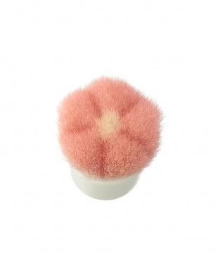 ピンク×ホワイト  洗顔ブラシ見る