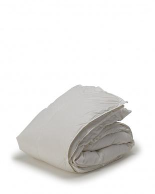 ホワイト  年間使える 2枚合わせ羽毛布団 ハンガリー産ホワイトダック90% シングルロング見る