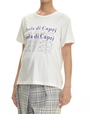 ブラック  IsolaグラフィックTシャツ見る