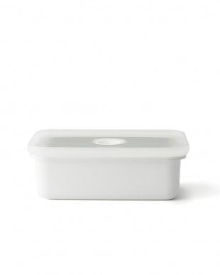ホワイト  真空琺瑯容器ヴィード浅型角容器M・L・LL 3点セット見る