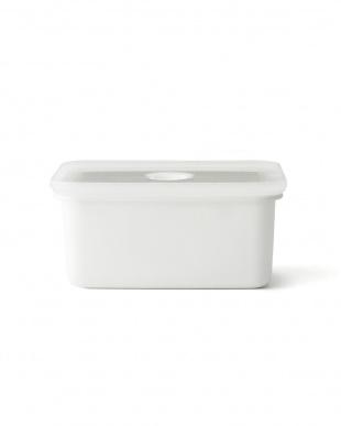 ホワイト  真空琺瑯容器ヴィード深型角容器M・L・LL 3点セット見る