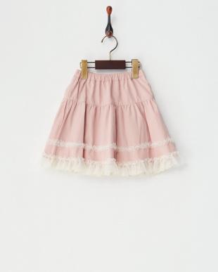 グレイ マーガレットプリントリバーシブルスカート見る