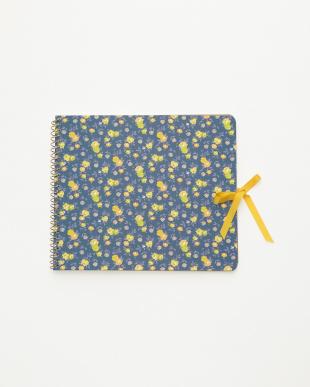 ブルー/アイボリー  スクラップノート 2点セット・シック/Flower textile|WOMEN見る