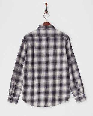 Dark Gray  オンブレーチェックシャツ見る