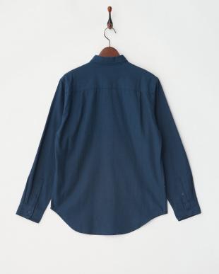 BLU ネル起毛ボタンダウンシャツ見る
