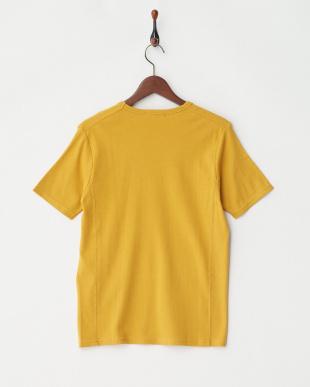 イエロー  リップルUネックTシャツ見る
