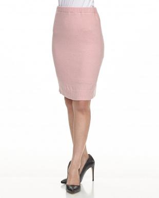 ピンク ニットタイトスカート見る
