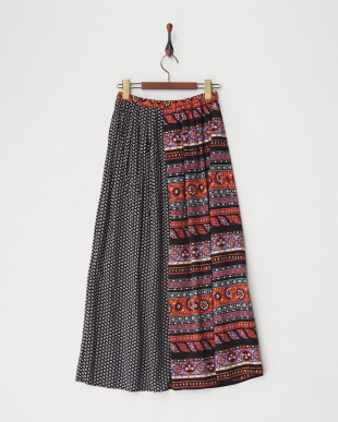 BLACK 2パターンロングスカート見る