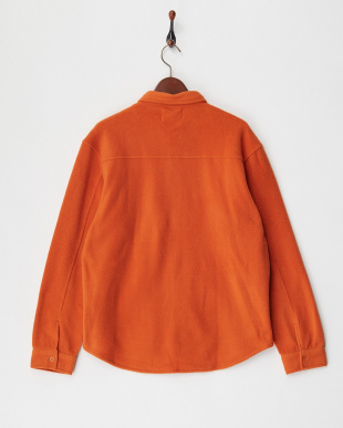 オレンジ 両面フリースシャツ見る