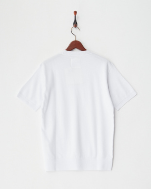 ホワイト  リネン裏毛半袖スウエットシャツ見る