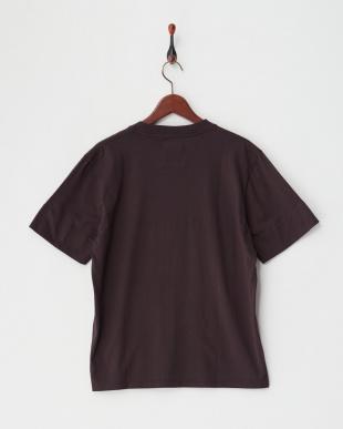 グレー ガーメントダイ裾ラウンドTシャツ見る