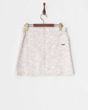 ライトグレー WOMEN'S リーフ柄スカート見る