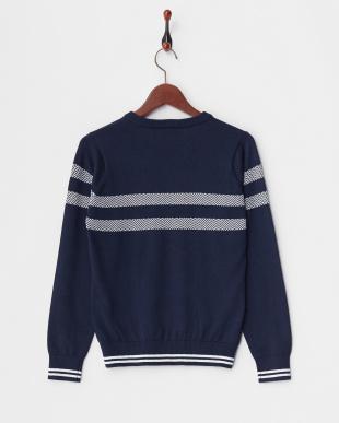 ネイビー WOMEN'S Vネックセーター見る
