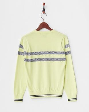 ペールイエロー WOMEN'S Vネックセーター見る