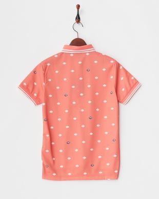 ピンク WOMEN'S シールドドット半袖ポロ見る