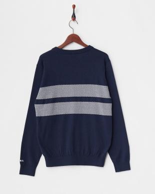 ネイビー MEN'S Vネックセーター見る