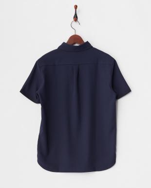 ネイビー MEN'S セミワイドカラーシャツ見る