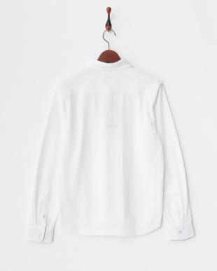 ホワイト MEN'S ホリゾンタルカラー長袖シャツ見る
