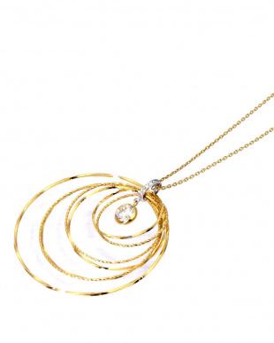 K18YG/WG  天然ダイヤモンド 0.5ctアップ ゴールド デザイン ロングネックレス見る