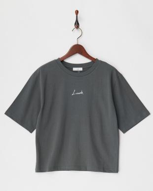 Cグレー ちびロゴTシャツ見る