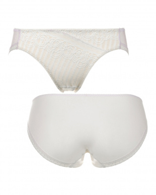ホワイト TRS015 Hikini エントリーコレクション きちんと見えるノンワイヤーブラ ぺアレギュラーショーツ 015見る