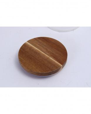木蓋付ガラスキャニスター H9.5cm見る