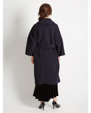 BLACK 着物スリーブショールカラーコート見る