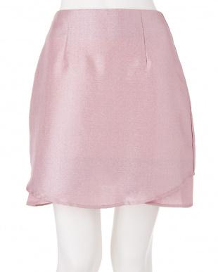 グレー グリッター台形スカート dazzlin見る