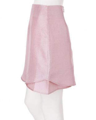 ピンク グリッター台形スカート dazzlin見る