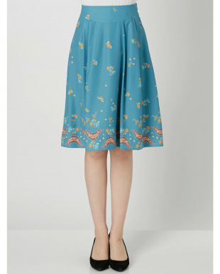 ブルー CHAPON×dazzlinフレアスカート dazzlin見る