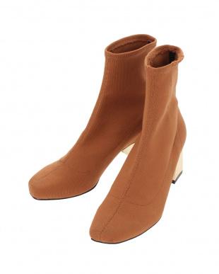 キャメル fit slim boots MURUA見る
