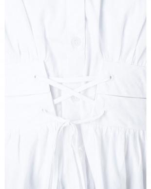 ホワイト ウエストマークシャツ MURUA見る
