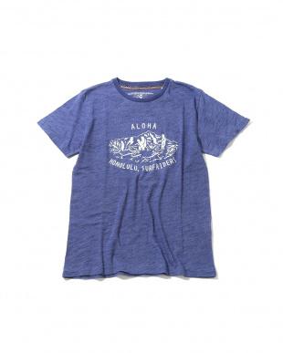 BLUE MID1 メンズフロントプリントTシャツ R/B COUPLES(オリジナル)見る