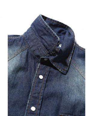 ネイビー1 メンズデニム刺繍シャツ R/B COUPLES(オリジナル)見る