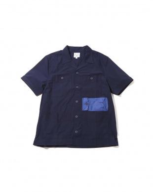 NAVY1 [Mes] 切り替えポケットシャツ R/B COUPLES(バイイング)見る