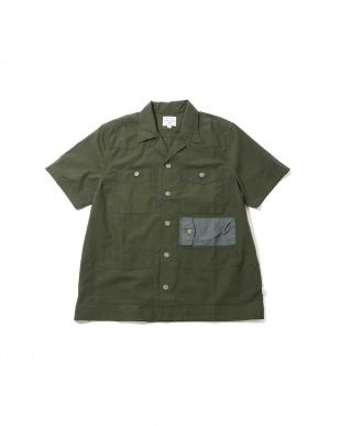 OLIVE1 [Mes] 切り替えポケット付き半袖シャツ R/B COUPLES(バイイング)見る