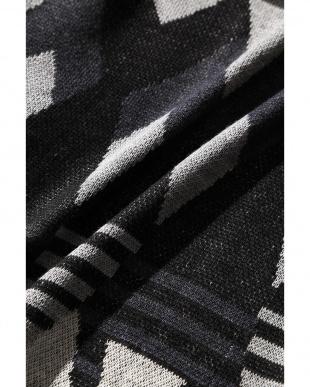 ブラック1 メンズネイティブ柄ニットトッパーカーディガン R/B COUPLES(バイイング)見る