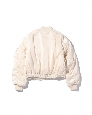 WHITE MID1 ショート丈MA-1ジャケット R/B(オリジナル)見る