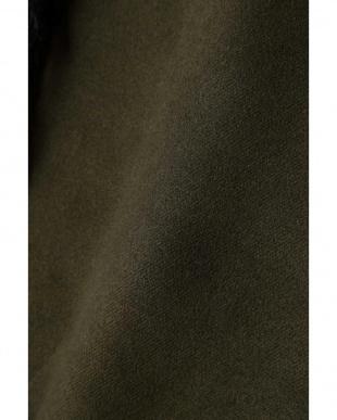 カーキ1 袖ファージャケットコート R/B(オリジナル)見る