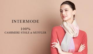 INTERMODE 100% CASHIMERE STOLE & MUFFLER(インターモード)のセールをチェック