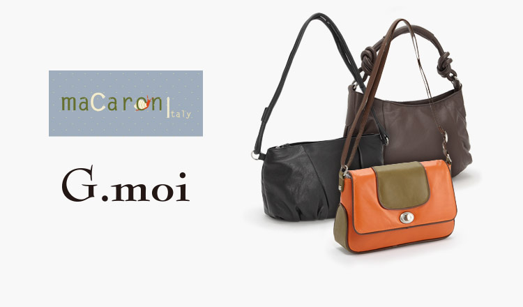 G.MOI/MACARONI - LEATHER BAG COLLECTION