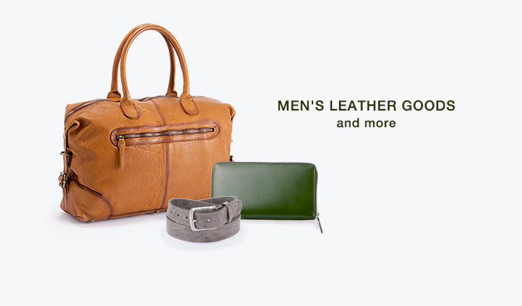 MEN'S LEATHER GOODS and more