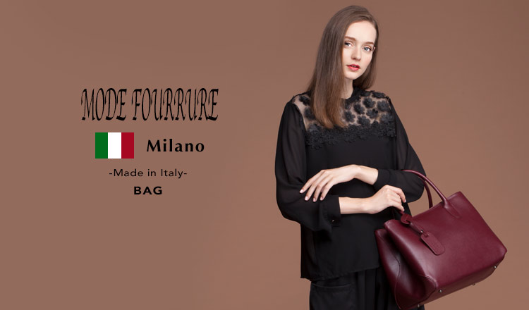 MODE FOURRURE -Made in Italy- BAG