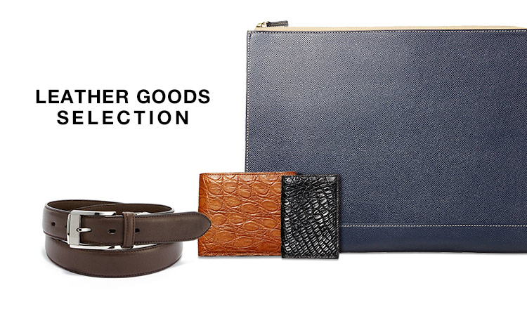 LEATHER GOODS SELECTION