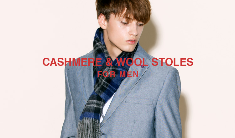 CASHMERE & WOOL STOLE FOR MEN